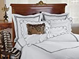 Joie de Loops Fitted Sheets, Fitted White Sateen (Twin, each)