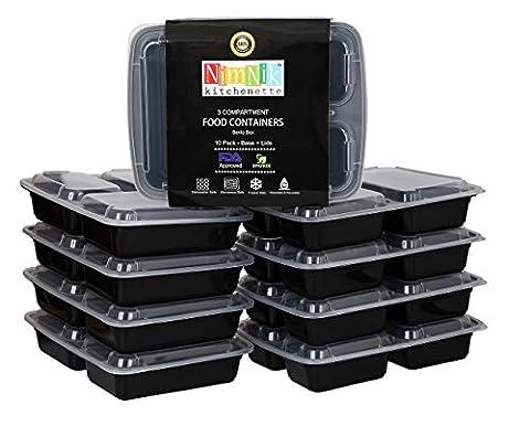 NimNik Kitchenette Microwave Safe Plastic Stackable Reusable