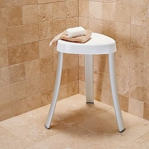 Aluminum Spa Bath Shower Seat Stool Chair Bench Rustproof Bathroom Corner NEW 51kKY5tofbL