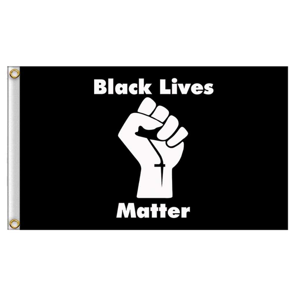 Black Lives Matter Polyester Flag BLM Peace Protest Outdoor Banner 3x5