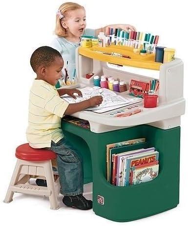 Amazon Com New Step2 885800 Arts Crafts Sturdy Desk W Bright