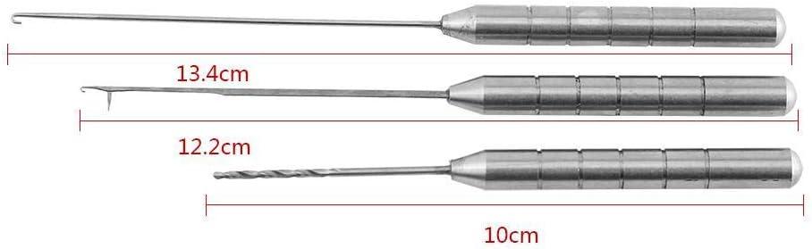 Angeln Boilienadel Ködernadel Werkzeug für Karpfenangeln aus Metall 4 Stk