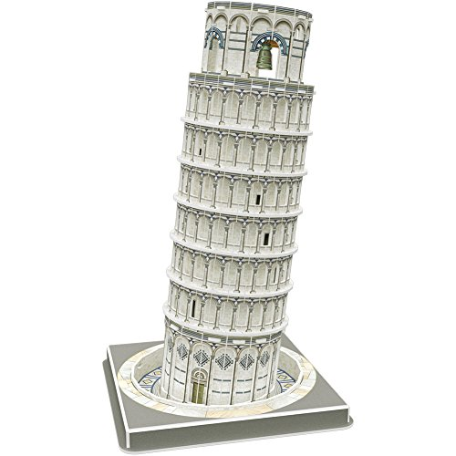 CubicFun 3D Italy Puzzles Architectures Model Building Paper Craft Kits and Toys for Adults, Children and Teens, Leaning Tower of Pisa, 27 Pieces