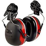 3M Peltor X-Series X3P3E Cap-Mount Earmuffs, NRR 25 dB, One Size Fits Most, Black/Red X3P3E (Pack of 1)