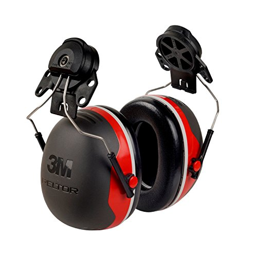 3m Personal Protection - 3M Peltor XSeries X3P3E CapMount Earmuffs, NRR 25 dB, One Size Fits Most, Black/Red X3P3E (Pack of 1)