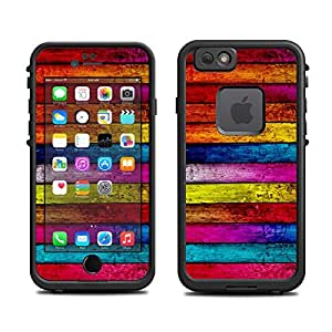 Skin for Lifeproof iPhone 6 Case (skins/decals only) - Color Wood Pattern Print very colorful