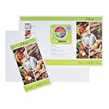 Hoffmaster 730016 Ready to Imprint Healthcare Menu Shells, 8.5'' x 14'', 3 Panel, Perforated, Healthy Choice (4 Inner Packs of 500) (Pack of 2000)