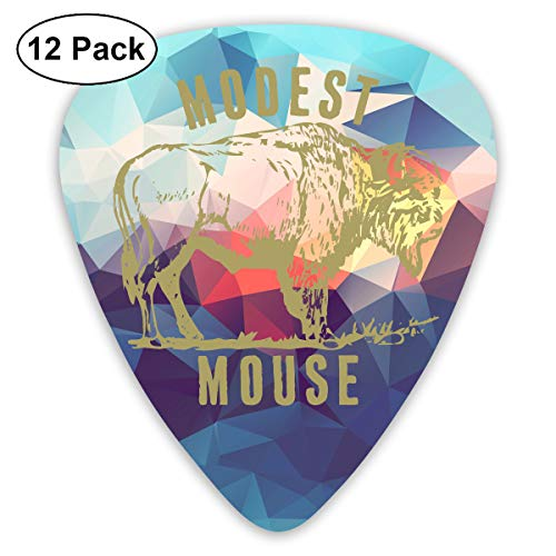 Dwight E Hoskins Modest Mouse Guitar Picks Guitar Accessories 12 Pack for Electric Guitar Acoustic Guitar Mandolin and Bass