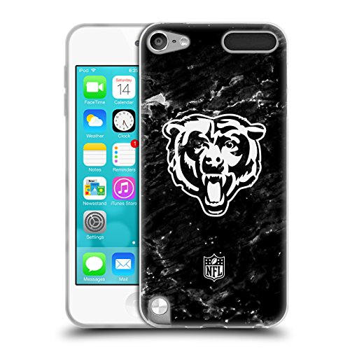 Official NFL Marble 2017/18 Chicago Bears Soft Gel Case for Apple iPod Touch 5G 5th Gen