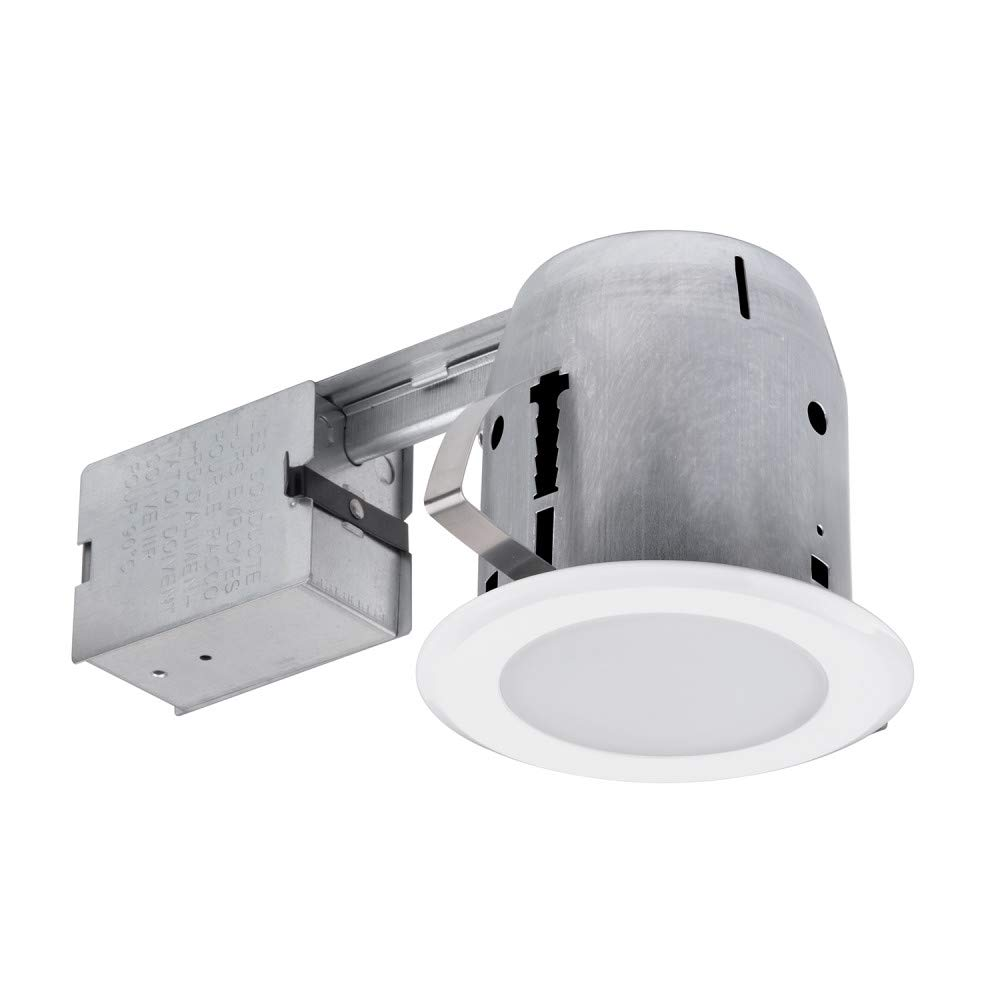 Globe Electric 90752 Bathroom Recessed Lighting Kit, White