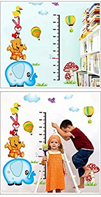 EMIRACLEZE Christmas Gift Height Tall Sticker Elephant Waterproof Removable Mural Wall Stickers Wall Art Decal for Children Room Decor