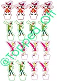 16 Captain Hook, Peter Pan & Tinkerbell stand up edible cup cake topper decorations by Topped Off (FREE UK SHIPPING)