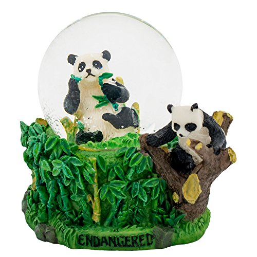 Globe Mm Water 45 (Bamboo Panda 3 x 3 Miniature Resin Stone 45MM Water Globe Table Top Figurine)