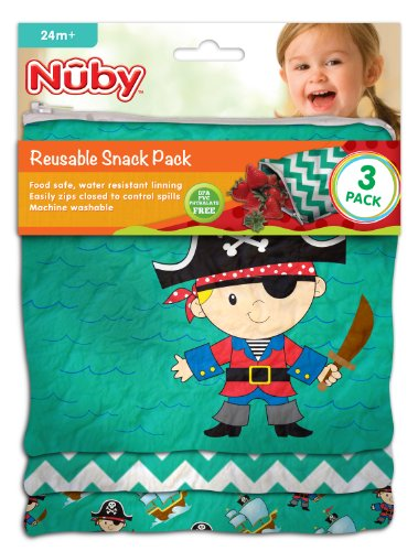 NUBY Reusable Snack Bag Pirate