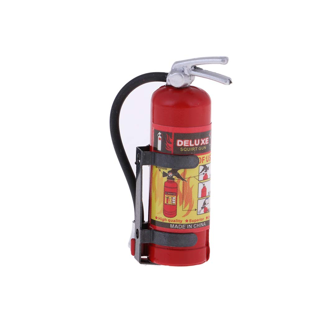 B Blesiya 1:8 1:10 RC Vehicle Model Fire Extinguisher for Axial SCX10 D90 Body Decor