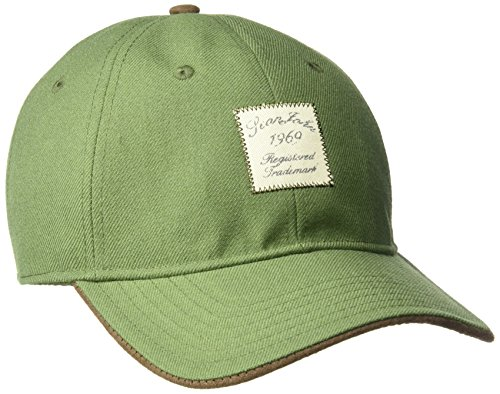 Sean John Men's Waxed Cotton Baseball Cap, Front Logo, Adjustable, Green, One Size