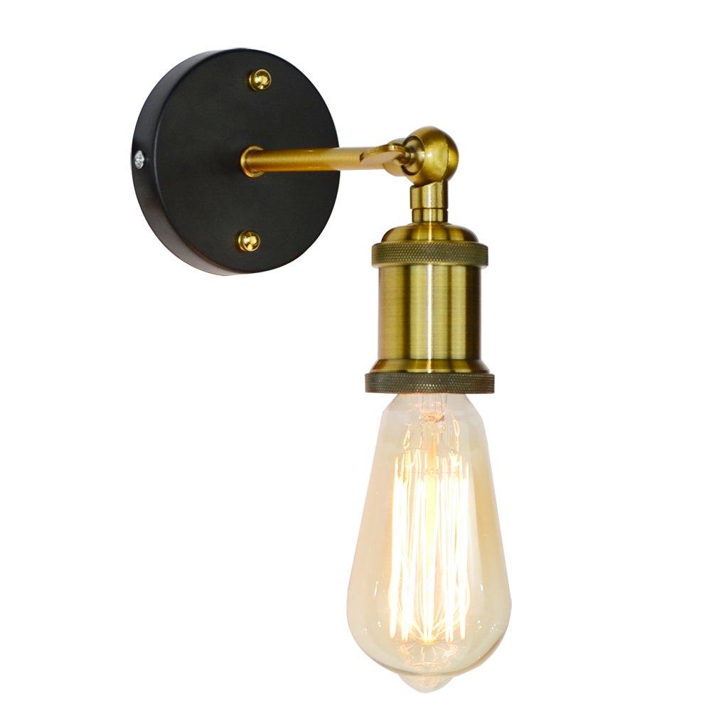 BLUEKING Vintage Mini Metal Wall Sconce Lighting Single Industrial Retro Fixture Wall Light Fixture with Copper Color Socket