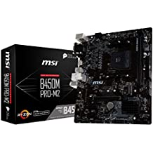 MSI ProSeries AMD Ryzen 1st and 2nd Gen AM4 M.2 USB 3 DDR4 D-SUB DVI HDMI Micro-ATX Motherboard (B450M PRO-M2)