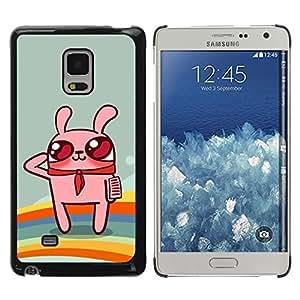 Exotic-Star ( Cute Rainbow Bunny Rabbit ) Fundas Cover Cubre Hard Case Cover para Samsung Galaxy Mega 5.8 / i9150 / i9152