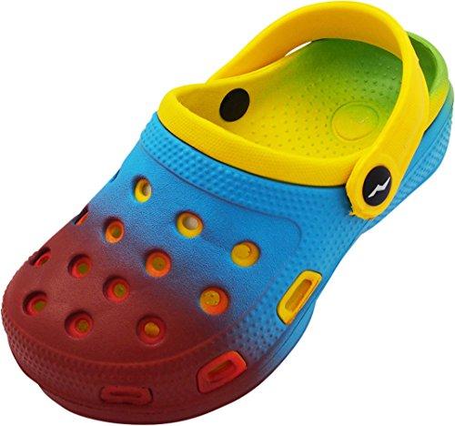 NORTY - Girl's Tie Dye Clog Sandal, Red, Blue, Yellow 40585-13MUSLittleKid -