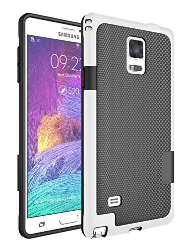 Note 4 Case, Galaxy Note 4 Case, Jeylly [3 Color] Slim Hybrid Impact Rugged Soft TPU & Hard PC Bumper Shockproof Protective Anti-slip Case Cover Shell for Samsung Galaxy Note 4 Verizon - Black