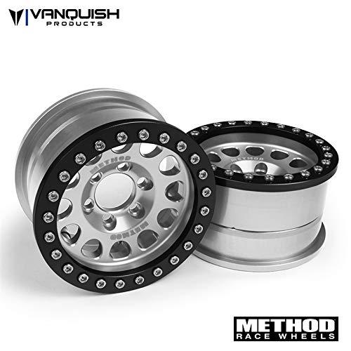 Vanquish Method 1.9 Race Wheel 105 Clear/Black Anodized (2)