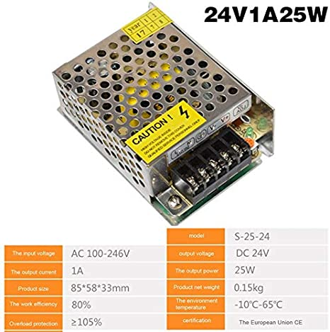 ouying1418 Switching Power Supply AC 220V to DC24 Volts AC-DC 24V for 24V LED Strip