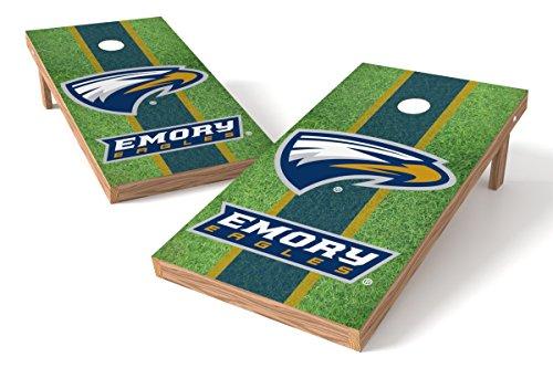 - Wild Sports NCAA College Emory 2' x 4' Field Authentic Cornhole Game Set
