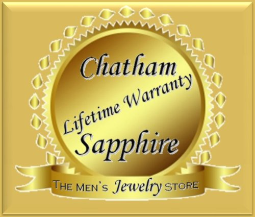 Girls Chatham Created Blue Sapphire September Birthstone Rhodium-Plated 14k White Gold Pendant Necklace 14