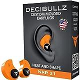 dDecibullz Custom Bouchons d'oreilles moulés: Taille Unique tous les bouchons d'oreille, Voyage, Travail, de sécurité