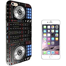 "001061 - Cool Dj Mixer Turntable Vintage Retro Music Dance Clubber RnB Hip Hop Rave Club Design iphone 8 Plus 5.5"" CASE Gel Silicone All Edges Protection Case Cover"