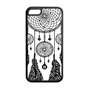 Black and White DreamCatcher Protective Rubber Back Fits Cover Case for iPhone 5C