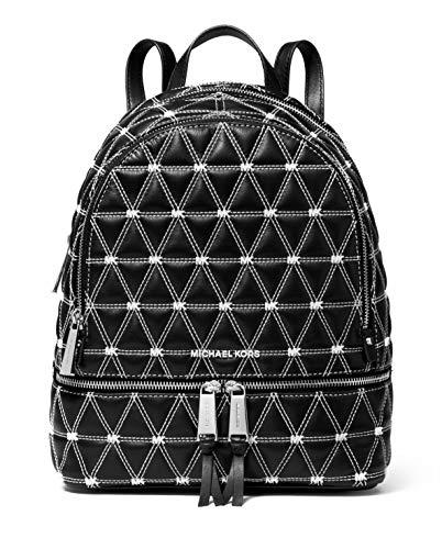 MICHAEL Michael Kors Rhea Zip Medium Backpack (Quilted Black Stitch)
