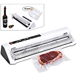 NUNEWARES Vacuum Sealer (Upgraded Food Vacuum Sealer Machine and Sous Vide Vacuum Sealer) Automatic Vacuum Food Sealer with Starter Kit (Free Sealing Bag/Pumping Hose/Bottle Stopper)