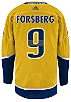 Nashville Predators Adidas Filip Forsberg Authentic Pro Jersey Yellow