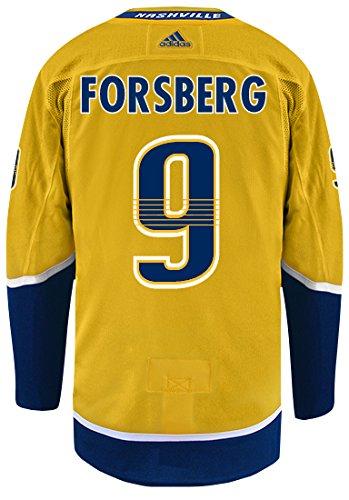 Nashville Predators Adidas Filip Forsberg Authentic Pro Jersey Yellow (50/M)