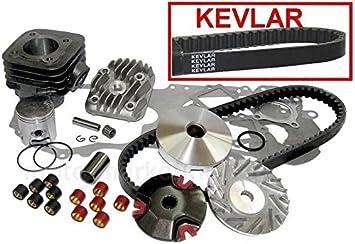 Unbranded 50ccm Zylinder KIT Kopf KOLBEN Set f/ür Sachs SPEEDJET RS Roller 50 Zylinderkit