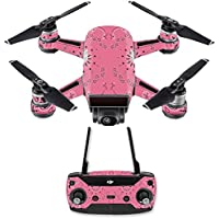 Skin for DJI Spark Mini Drone Combo - Pink Bandana| MightySkins Protective, Durable, and Unique Vinyl Decal wrap cover | Easy To Apply, Remove, and Change Styles | Made in the USA