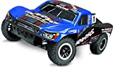 Traxxas 68086-4 Slash 4X4 1 10 Scale 4WD Short Course Truck with TQi 2.4GHz Radio and TSM Blue