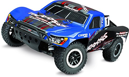 Traxxas 68086-4 Slash 4X4 1/10 Scale 4WD Short Course Truck with TQi 2.4GHz Radio and TSM Blue