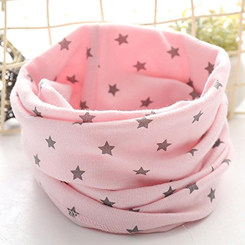 Review Sharemen Toddlers Infant Babys Cute Scarf Kids Cotton Scarves Winter Warm Scarf (Pink)