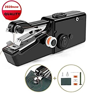 Black Handheld Portable Sewing Machine,Mini Cordless Sewing Machine TPSKY Hand Sewing Machine Electric Quick Repairing Suitable for for Kids Beginners to Quick Handy Stitch Kit.