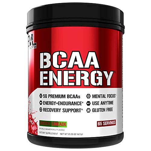 Evlution Nutrition BCAA Energy – High Performance Amino Acid Supplement for Anytime Energy, Muscle Building, Recovery and Endurance, Pre Workout, Post Workout (Cherry Limeade, 65 Servings)