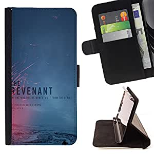 Super Marley Shop - Leather Foilo Wallet Cover Case with Magnetic Closure FOR Samsung Galaxy S6 Edge G9250 G925F- The Revenant