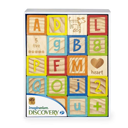 Infinity Creations Discovery 40 Piece Wooden Alphabet 123 Blocks Set Imaginarium (Toys 'R' Us Exclusive)