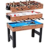 Lancaster 48' 3 in 1 Pool Billiard Slide Hockey Foosball Combo Arcade Game Table