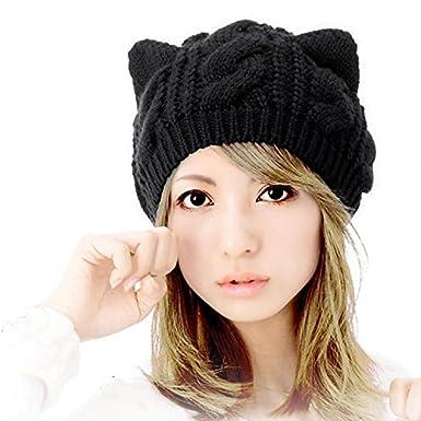 AStorePlus Women Oversized Baggy Knit Hats Beanies fc0a54469734