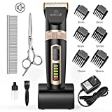 Best Pet Hair Clippers - oneisall Dog Clippers Professional, 2-Speed Quiet Rechargeable Cordless Review
