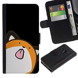 All Phone Most Case / Oferta Especial Cáscara Funda de cuero Monedero Cubierta de proteccion Caso / Wallet Case for Samsung Galaxy S3 MINI 8190 // Cute Minimalist Fox