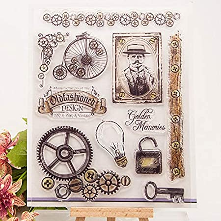 Old Stamps GIMITSUI Store Clear Stamps Silicone DIY Stamp